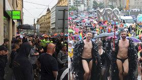 """Prague Pride 2019: Město se obléklo do duhových barev! """"Do plynu,"""" křičeli extremisté na účastníky pochodu"""