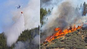 Hasiči marně bojují s požáry na Kanárech: Evakuace na Gran Canarii pokračuje