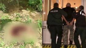 Honza (65) vzal na souseda (†35) železnou tyč: Tělo vláčel za autem, zbavil se ho v lese