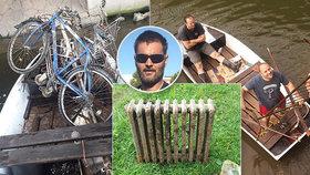 Labe jako smetiště! Dobrovolníci vylovili radiátor, bicykly, nákupní vozík i munici!