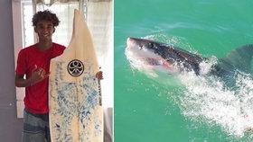 """Surfař Max (16) si spletl žraloka se želvou. Unikl jen s ukousnutým """"prknem"""""""