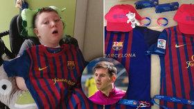 Adámek (11) v kómatu po nezdařené operaci mandlí: Dostal dres od Messiho!