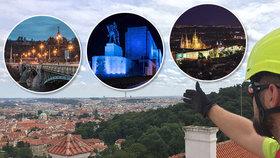 """Osvětlení pražských památek: Která vypadá jako z """"Ledového království"""" a jaké se rozsvěcí jako první?"""