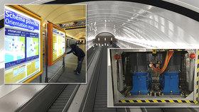 """Sovětské eskalátory v metru na """"Karláku"""" vyměnili za pomalejší """"funglovky"""": Vestibul se po 10 měsících otevřel"""