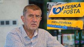"""Babiš zmínil """"obírání mrtvol"""" v České poště. Chce prodej majetku i modernizaci"""