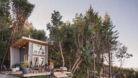 Víkendový dům nabízí chytrý design a maximální pohodlí na minimální ploše