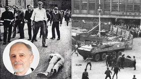 """""""Zdeňka (†21) srazil tank, dával jsem mu dlahu."""" Vladimír pomáhal oběti srpna 1968"""