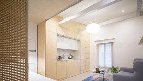 Mini byt v Paříži nabízí pohodlí a úložné prostory na pouhých 27 m2