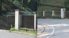 Žiletkový drát u Jeleního příkopu je fuč! Pražský hrad v ostrém opevnění vydržel jen jeden den