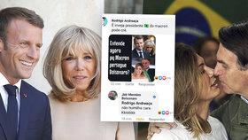 Brazilský prezident si na facebooku utahoval z Macrona kvůli Brigitte (66). Elysejský palác zuří