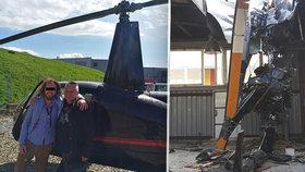 Kajínkův kamarád (†32) pilotoval vrtulník opilý: Při nehodě zemřel on a tři další lidé