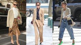 Béžové sako se hodí ke všemu! Takhle je nosí celebrity