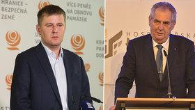 """Zeman se pustil do Petříčka kvůli nehodě v taxíku. """"Chce něco utajit,"""" tvrdí"""