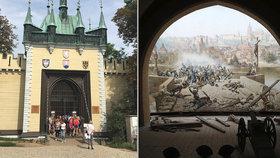 Žádné bludiště! Dřív lidi na Petřín lákal unikátní obraz. Památku na bitvu se Švédy zrenovovali