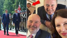 Babiš vyvezl ministry do Polska. Maláčová přidala rozverné selfie z paluby speciálu