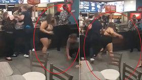 Rvačka v McDonald's kvůli zmrzlině: Rozzuřená žena zmlátila chlapa jako žito!