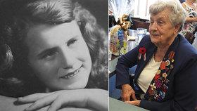 Odřezávala mrtvolu, pašovala granáty a zachránila mnoho životů: Dana oslavila 90. narozeniny
