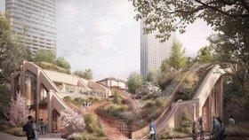 Architekti navrhli v Tokiu zvlněný dům, po kterém lze chodit