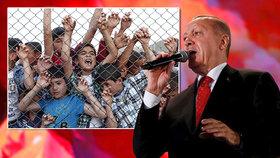 Turecko hrozí Evropě: Pošleme vám uprchlíky. Jsou jich skoro 4 miliony