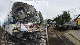 """""""Kdybych ještě přemýšlel, jsem mrtvý."""" Strojvedoucí popsal hrozivý náraz vlaku do kamionu v Uhříněvsi"""