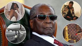 Diktátor Mugabe (†95) si užíval miliardového luxusu: 25 ložnic, zlaté pistole a tryskáče