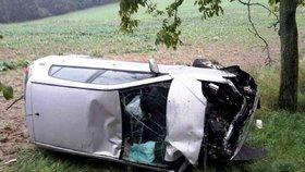 Tragická nehoda na Rychnovsku: Řidič (†40) vyjel ze silnice a narazil do stromu! Auto vzplálo