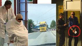 Z prostěradla do želízek: Kamioňák od Uhříněvsi zůstává v rukou policistů