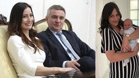 Alex Mynářová ukázala měsíčního syna Viktora. Má úsměv po mamince?