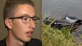 Mladý potápěč (13) pod vodou našel autovrak s mrtvolou: Smrt seniorky (†69) řešila policie