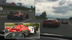 Řidič formule z D4 má štěstí: Helma zabránila identifikaci, šofér vyvázl bez trestu