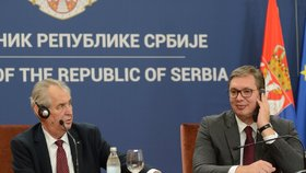 Prezidenta náhle převezli do vojenské nemocnice. Zemana hostil Vučić v září
