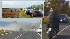 Smrtelně nebezpečný hazard: Motorkář z videa vážně zranil sebe i svou spolujezdkyni!