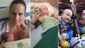 Dvojčátka z Třeboně trpí vážným postižením: Život si vybojovala, chybí ale peníze na léčbu