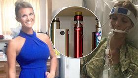Máma tří dětí skončila kvůli e-cigaretě v kómatu. Objevila se u ní záhadná plicní nemoc