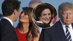 Polibek Melanie Trumpové a kanadského hezouna: Matka premiéra řekla, co je za ním
