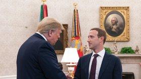 """Trump se potkal se Zuckerbergem. """"Pěkné,"""" hodnotí rozhovor se šéfem Facebooku"""