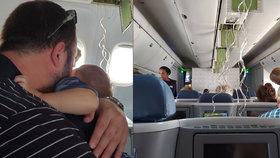 Hrůza na palubě letadla: Prudké klesání a kyslíkové masky! Lidé se loučili s rodinami