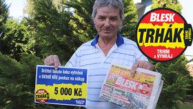 Jaroslav (64) vyhrál v Trháku Blesku: Místo »kolotoče« na zahradě bude sušička!