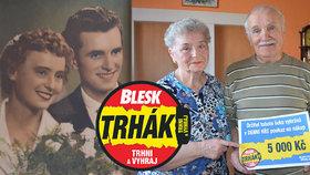 Manželé Dufkovi vyhráli v Trháku a oslavili diamantovou svatbu! Štěstí jim přinesly devítky