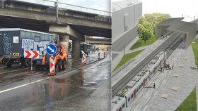 První vlaková zastávka v Praze 8: Má být v Libni,  radnice připravuje architektonickou soutěž