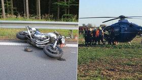 Motorkář nepřežil nehodu na Červenohorském sedle: Hazardér vezl i vlastní dítě (12)!