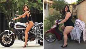 Fotky na sociálních sítích jsou upravené, říká vtipná Brazilka a dává jim nový náboj