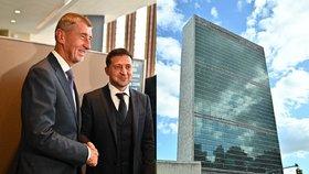 Babiš pozval do Česka prezidenta Ukrajiny. Projev pro OSN stále mění, o čem bude?