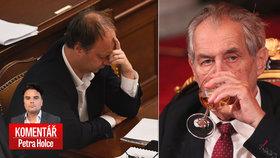 Komentář: Zeman zůstane prezidentem, Láska ho do důchodu nepošle