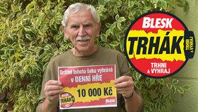 Karel (70) vyhrál 10 tisíc v Trháku! Funguje to, raduje se