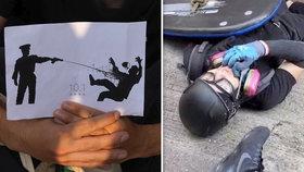 Studenta (18) postřelili na demonstraci. Školu v Hongkongu obsadily stovky lidí