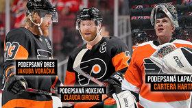 Vydražte poklady hvězd NHL! Peníze dá Voráček na dobrou věc