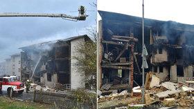 Výbuch v Lenoře nebyl náhoda, říká policie: Chraptící soused prý polil bytovku benzinem!