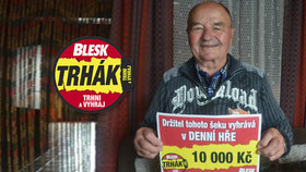 Miroslav Ciblo (72) z Broumova vyhrál v Trháku 10 tisíc: Obuji auto na zimu!