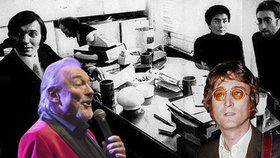Tajemství 49 let staré fotografie s Lennonem: Chtěl za Gottem (†80)!